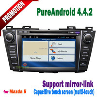 2 din android 4.4.2 gps car dvd player for mazda 5 multimedia player with wifi ipod BT raido mirror link+wifi hotspot