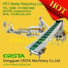Russia waste PET bottle hot washing line, Middle east platic bottle to POLYESTER FIBER recycling machine