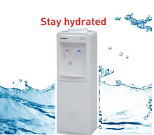 free standing bottled plastic hot and cold water dispenser