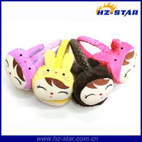 HZE-13076 2014 Newest Warm Wholesale winter smile face ear muffs for hot sale