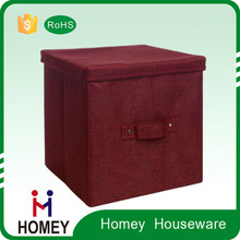 Factory Wholesale Polyester 12x12 book Storage Box with Lid
