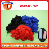 red color raw bamboo fiber cloth fiber
