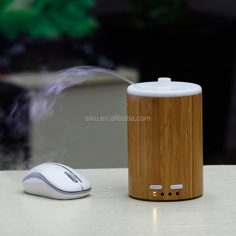 Bamboo portable air conditioner mini misting machine car perfume humidifier