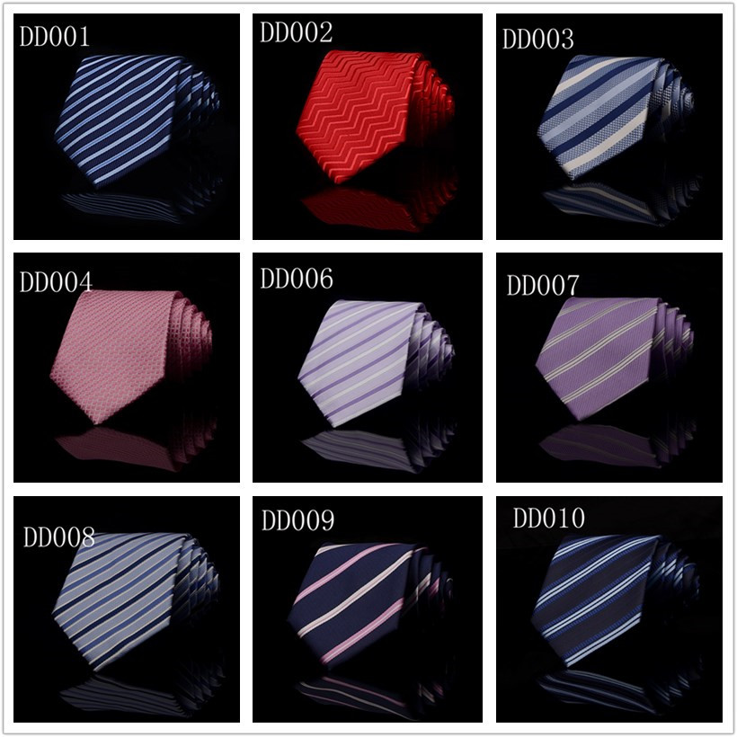 T02 Silk Polyester Woven Smooth <strong>Tie</strong> Classic Man's Purple Blue Stripe Business Wedding <strong>Ties</strong> For Men Party Fashion Casual Necktie