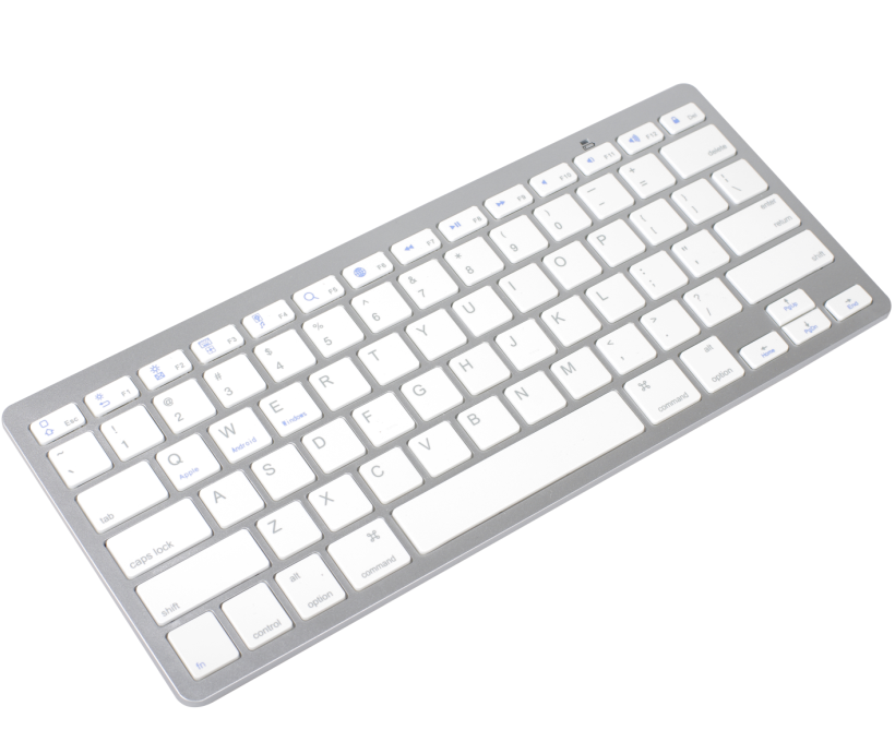White 78 keys Bluetooth 3.0 Computer Wireless Keyboard