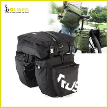 Waterproof Double Bicycle Pannier Rear Seat Bag Bike Pouch 40-50L Bike Trunk Rack Bag Bycicle Back Bag