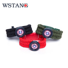 WSTANGOutdoor anti-mosquito hand chain field multi-purpose survival bracelet special soldier tactical equipment 550 military umb