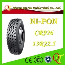 13R22.5 truck vacuum tires with good wear resistance and good wet skid resistance