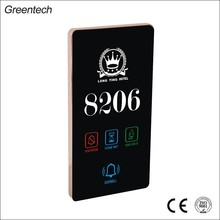 Led Touch Door Plate Hotel Electrical Door Plate