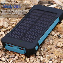 Shenzhen factory hot sale solar power bank charger with LED Flashlight for all mobile phones