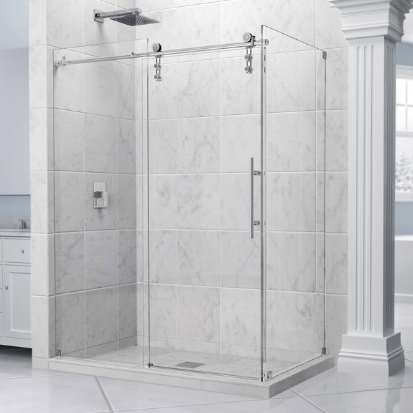 modern style frameless glass sliding shower door hardware