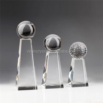 Crystal Pillar Trophy for Baseball/Softball for Sports Trophy Awards