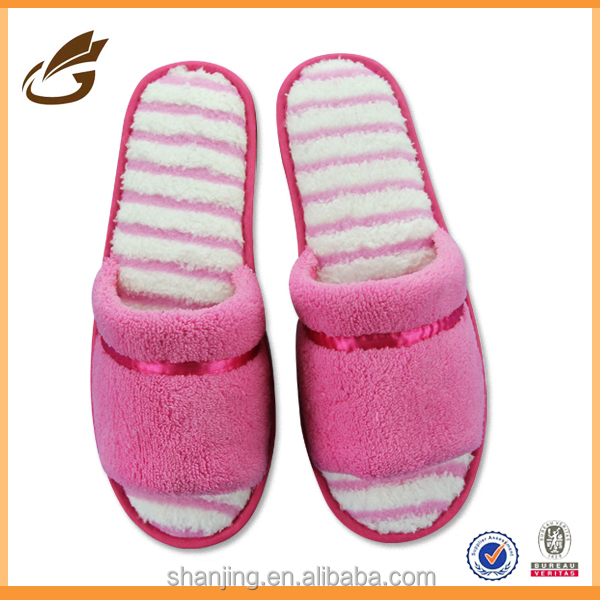 cotton fleece quilted cute bedroom slippers