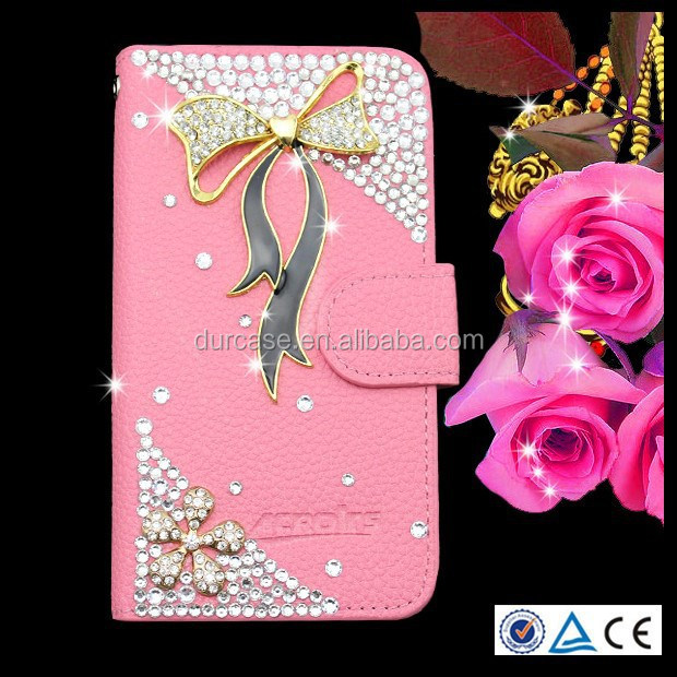 Wallet Credit Card Holder flip cover Bling bling phone case for Nokia lumia N920