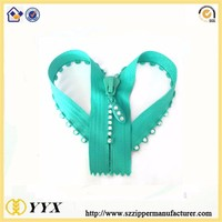 special zipper for handbags with diamante