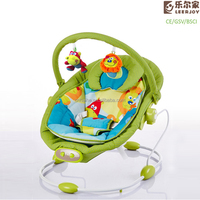 Colorful indoor baby swing bouncer with vibrator and music