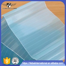 High quality uv protected corrugated plastic transparent roofing sheet