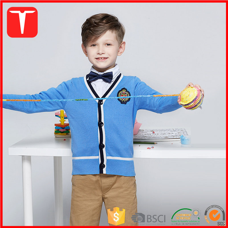 2017 new style kids sweaters school uniform cardigan