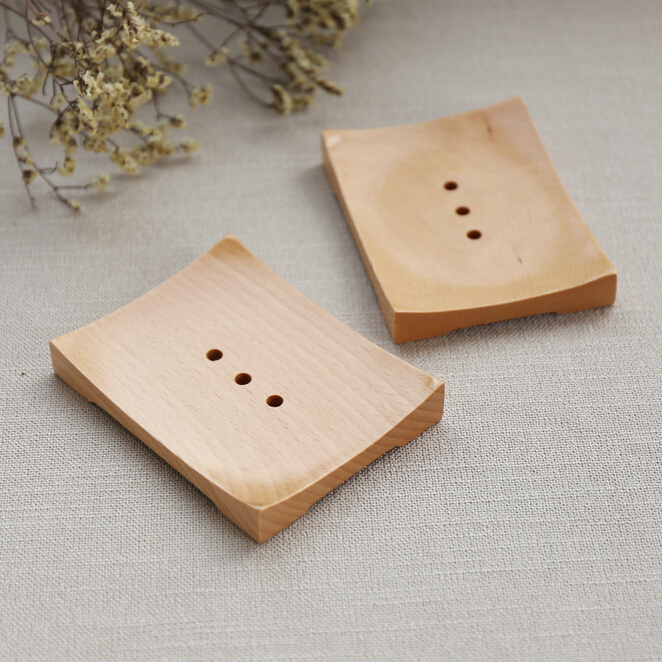 beech wood soap dish natural soap holder wooden box for soap display