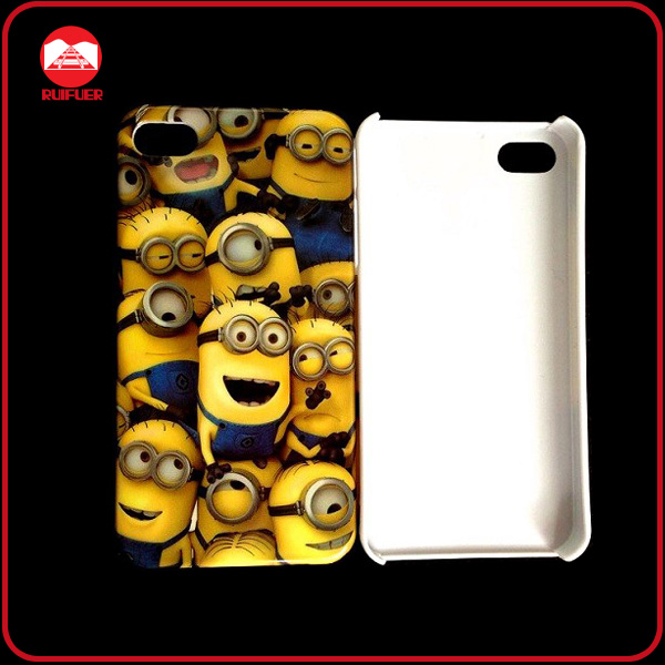 Hot Selling Despicable Me Minions Group Design Hard Cartoon Phone Case for Iphone5