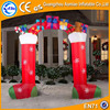 Merry Christmas boots inflatable arch, holiday happy air finish arch for sale