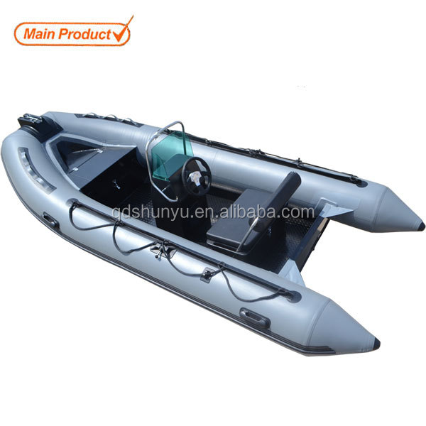 CE welded aluminum hull inflatable boat for sale
