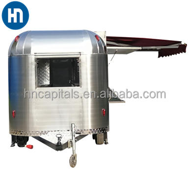Mobile breakfast food carts/outdoor street kitchen electric mini-bus/moving dining car truck