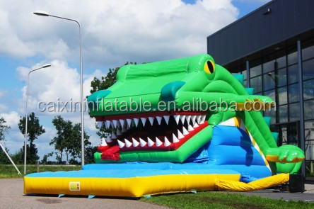 large crocodile jumping castles inflatable water slide