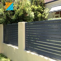 Contemporary strong aluminium fencing powder-coated slat fence