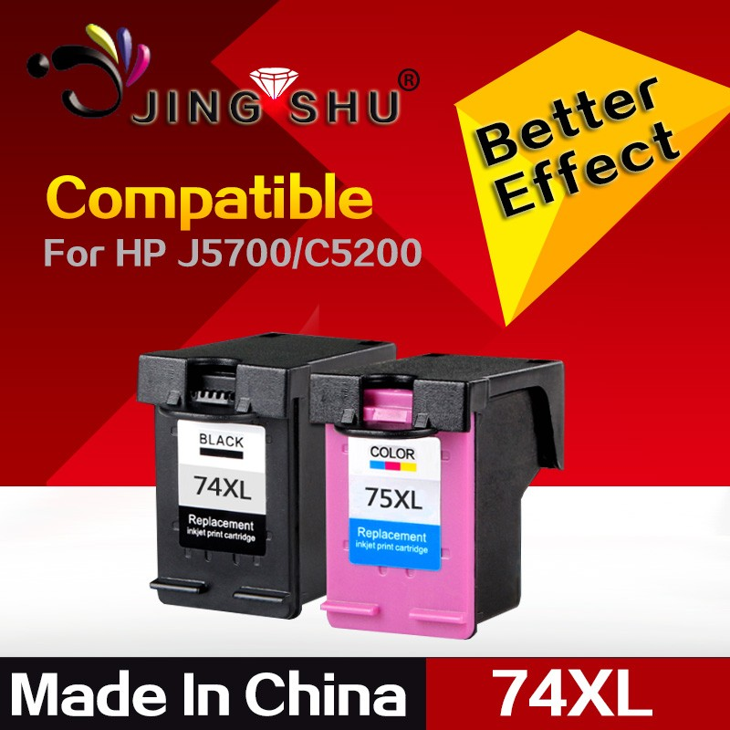 Compatible ink cartridge 74XL/75XL for HP Officejet J5700 series