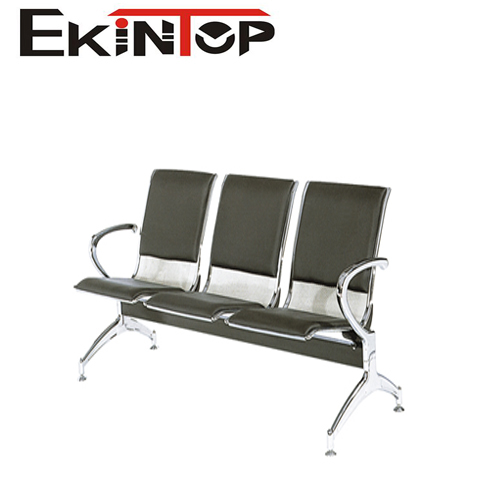 Hot sale 3 seats comfortable durable hair salon waiting for Colored salon chairs