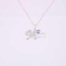 Hot sales silver color fashion character pendant necklace jewelry wholesale