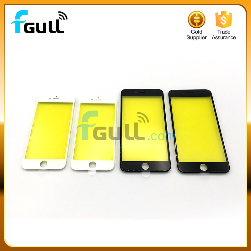 Original cold glue Frame With Glass For iPhone 4 5 5S 6 6plus 6s 6splus 7 7plus