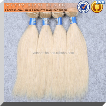 613 Blonde Color Hair Weave, 100% Human Hair Remy Indian Hair Extension, Straight Virgin Indian Hair