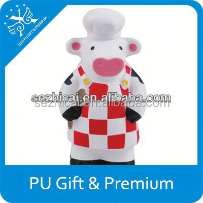 animal stress ball PU stress cow funny promotional pu cow toys
