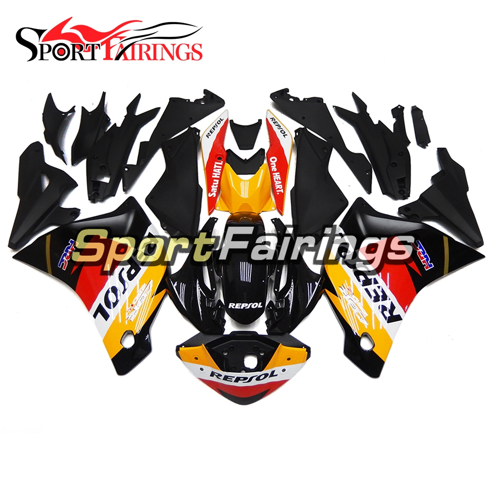 Injection ABS Full Fairings For Honda CBR250RR 11 12 13 14 2011-2014 Plastic Complete Motorcycle Fairing Kit Repsol Yellow Black