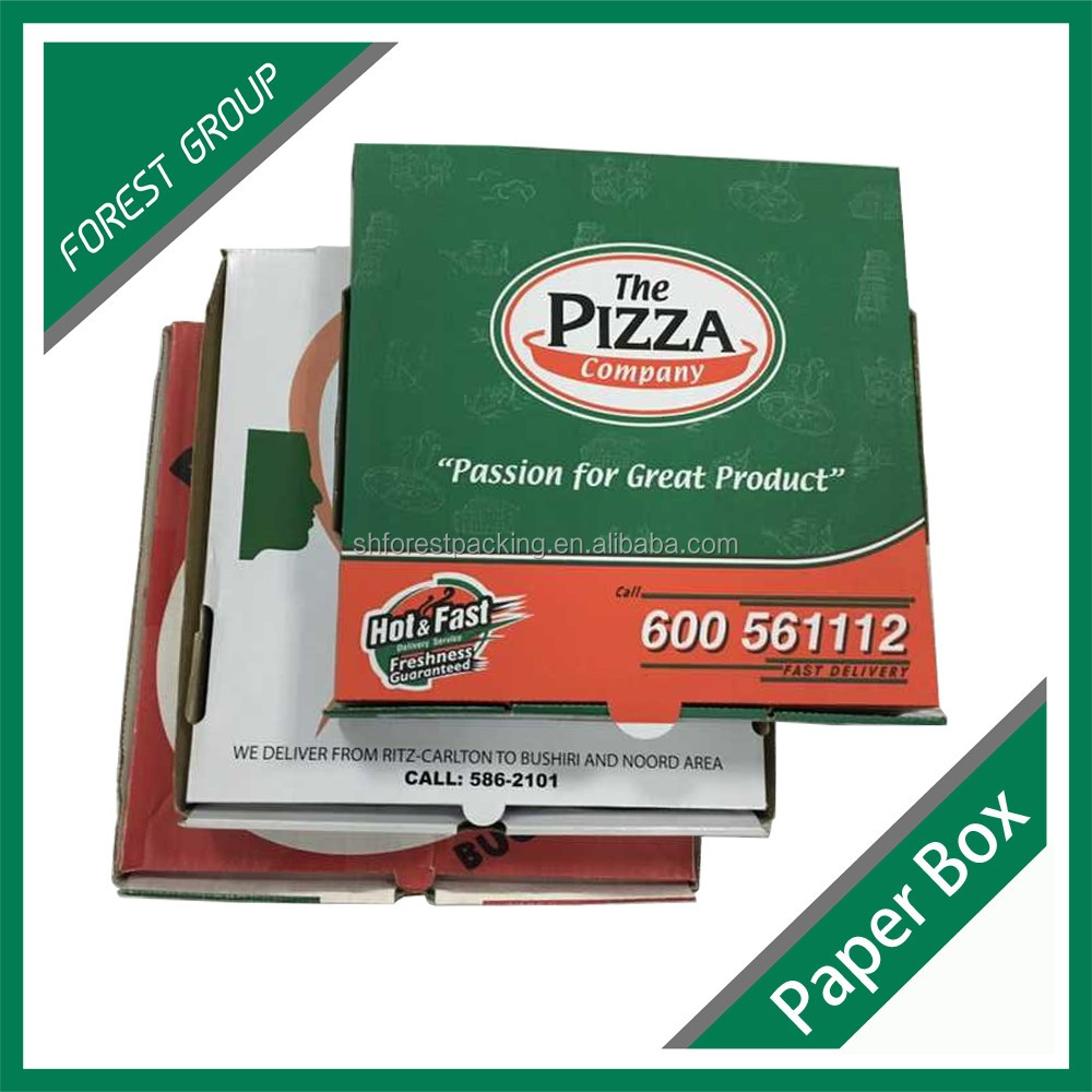 DIFFERENT WHOLESALE PACKAGING PAPER PIZZA BOX WITH LOCKER