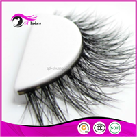 Wholesale high end false eyelashes real mink fake lashes 3D mink strips eyelashes