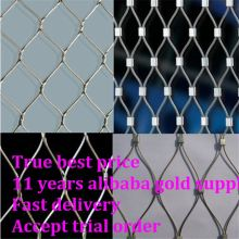 animal enclosure zoo rope mesh net For Bird Aviary Netting Animal Enclosure in Zoo