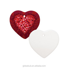 heart shape full-bleed printing sublimation ceramic gift wedding door gift
