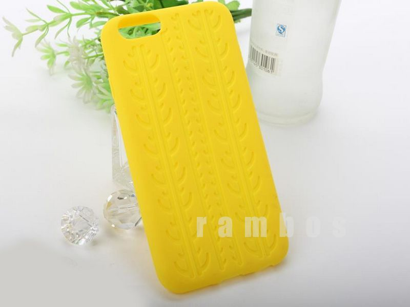 New tire grain Soft Silicone Dots Rubber Points case For iPhone 6