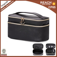 SC278 Wholesale Large Capacity Black PatternTravel Makeup Cosmetic Bag Case