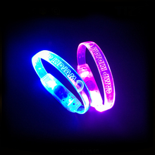 Made In China Best Selling Products Flashing Light LED Wristband For Party Supplies