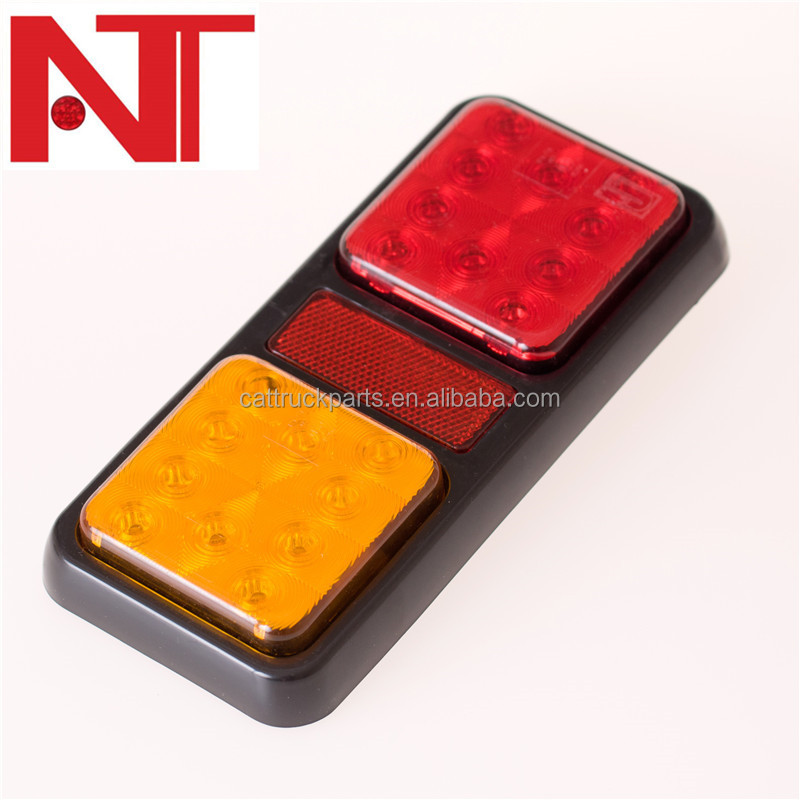 12V 24V LED Tail Light for boat trailer truck cavaran, Rear Tail Turn Stop combination Light Lamp