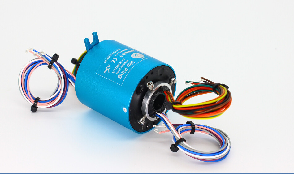 Senring through hole slip ring/rotary joint for liquids/hydraulic pneumatic 2A-300A, 1-120 circuits