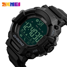 SKMEI 1249 Remote Camera Health Life Men Watches Fashion Multi-Functions Bluetooth LED Digital Sport Men Smart Wristwatch