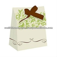 Custom Printed Paper Cake Bags with Ribbon Ties