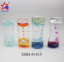 Home Decoration Acrylic liquid art oil hourglass sand timer