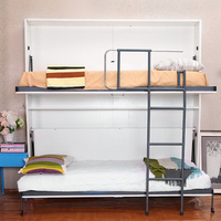 Murphy bed folding wall bed,wall mounted bed children bunk bed design,hidden bunk wall bed