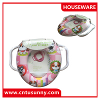 high quality cartoon pattern baby safety toilet seat/potty seat
